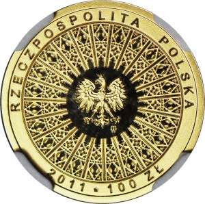 100 złotych 2011, Beatyfikacja, Jan Paweł II, złoto