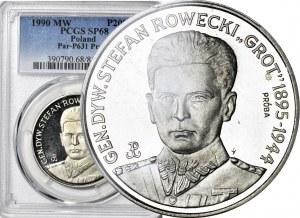 """200.000 złotych 1990, PRÓBA NIKIEL, Generał Rowecki """"Grot"""""""