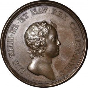 Francja, Ludwik XIV, Medal 1648 brąz, Libertas Germaniae, suita J Mauger, menniczy