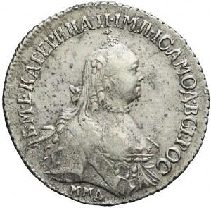Rosja, Katarzyna II, Półpołtinnik 1766, Moskwa, ładny