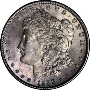 Stany Zjednoczone Ameryki (USA), 1 dolar 1888, Filadelfia, typ Morgan, menniczy