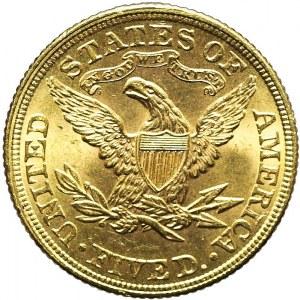 Stany Zjednoczone Ameryki (USA), 5 dolarów Liberty Head, 1900, Filadelfia, piękne