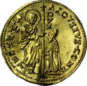 Włochy, Alvise Contarini 1676-1684, Zecchino (Cekin) bez daty, menniczy