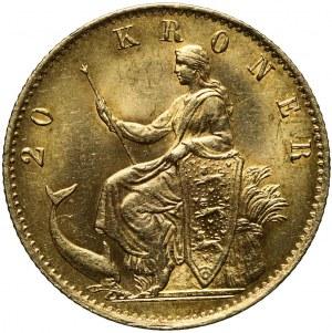 Dania, 20 Koron 1876, Christian IX, mennicze