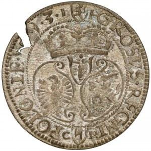 Zygmunt III Waza, Grosz Olkusz 1593 - wąskie popiersie