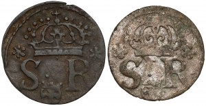 Zygmunt III Waza, Szelągi Warszawa(?) 1622-23 (2szt)