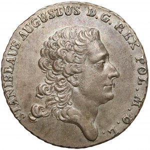Poniatowski, Półtalar 1768 IS - bez przepaski - rzadki