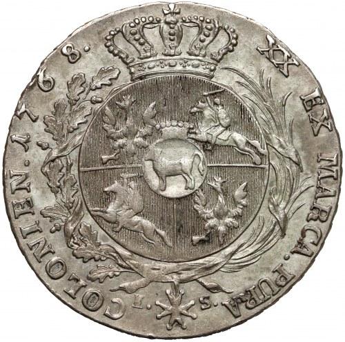 Poniatowski, Półtalar 1768 IS - bez przepaski - piękny i rzadki