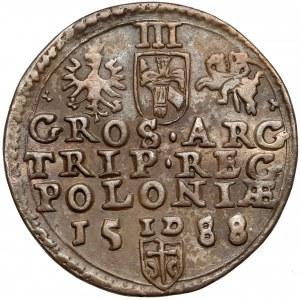 Zygmunt III Waza, Trojak Olkusz 1588 - duża głowa