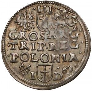 Zygmunt III Waza, Trojak Poznań 1589 ID - ŁADNY