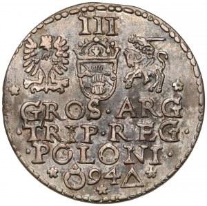 Zygmunt III Waza, Trojak Malbork 1594 - zamknięty