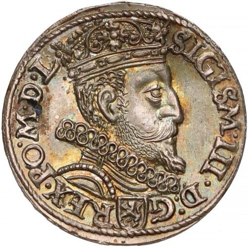 Zygmunt III Waza, Trojak Kraków 1601 - w prawo - PIĘKNY