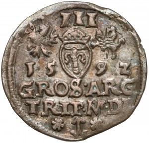 Zygmunt III Waza, Trojak Wilno 1592