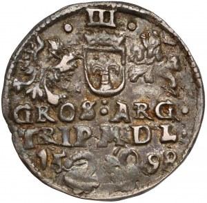 Zygmunt III Waza, Trojak Wilno 1598 - Łabędź z lewej - rzadki