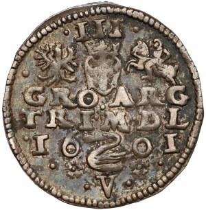 Zygmunt III Waza, Trojak Wilno 1601 - Łabędź nad V - rzadki