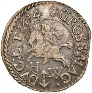 Zygmunt III Waza, Grosz Wilno 1614 HW - rzadki i B.ŁADNY