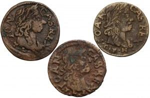 Jan II Kazimierz, Boratynki litewskie 1661-1665 (3szt)