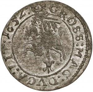 Jan II Kazimierz, Grosz Wilno 1652 - piękny