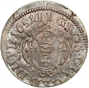Jan II Kazimierz, Dwugrosz Gdańsk 1651 - róże