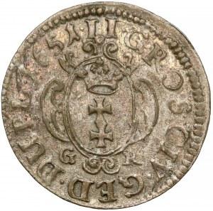 Jan II Kazimierz, Dwugrosz Gdańsk 1651 - proste