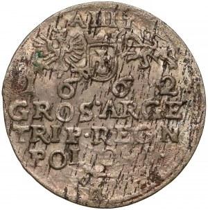 Jan II Kazimierz, Trojak Kraków 1662 AT - bez obwódki