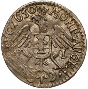 Jan II Kazimierz, Szóstak Wschowa 1650 - piękny i rzadki