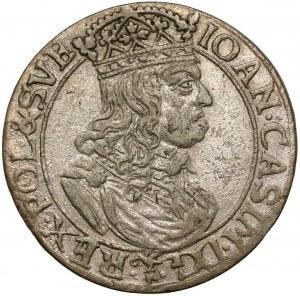 Jan II Kazimierz, Szóstak Kraków 1660 - TLB po bokach