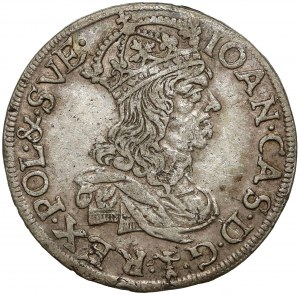 Jan II Kazimierz, Szóstak Kraków 1660 TLB - bez obwódek
