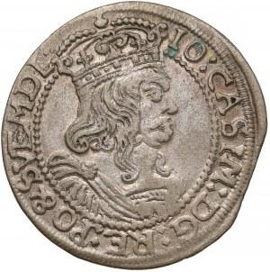 Jan II Kazimierz, Szóstak Kraków 1663 AT