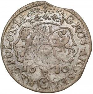 Jan III Sobieski, Szóstak Kraków 1680 - litera K - RZADKI