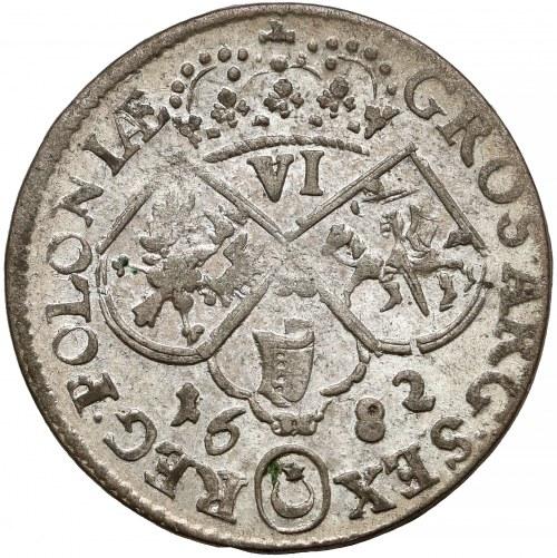 Jan III Sobieski, Szóstak Kraków 1682 - duża głowa w koronie - piękny