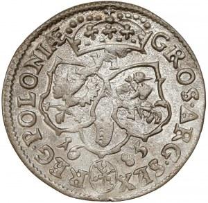 Jan III Sobieski, Szóstak Bydgoszcz 1683 - Jelita - wąskie pop.