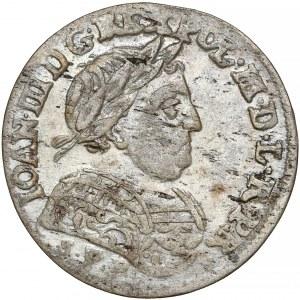 Jan III Sobieski, Szóstak Bydgoszcz 1684 SVP - w zbroi - PIĘKNY