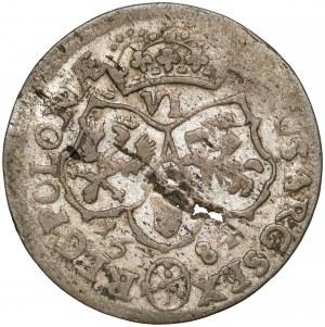 Jan III Sobieski, Szóstak Bydgoszcz 1684 - inicjały SP