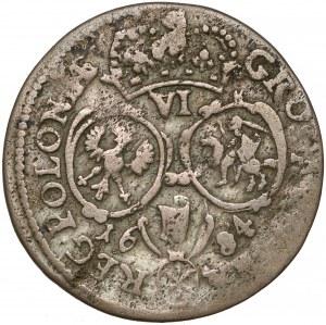 Jan III Sobieski, Szóstak Bydgoszcz 1684 SVP - w zbroi