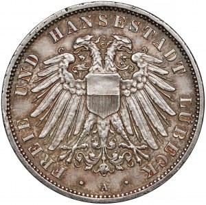 Niemcy, Lubeka, 3 marki 1913-A, Berlin