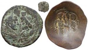 Cesarstwo Rzymskie, Aleksander Sewer, Bizancjum, zestaw (3szt)