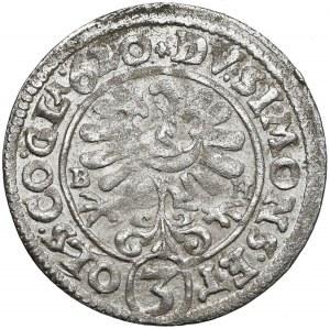 Śląsk, Henryk Wacław i Karol Fryderyk, 3 krajcary 1620 BH