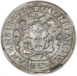 Zygmunt III Waza, Ort Gdańsk 1619 SB - przebitka z 1618