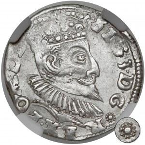 Zygmunt III Waza, Trojak Poznań 1596 - kwiatek - RZADKI