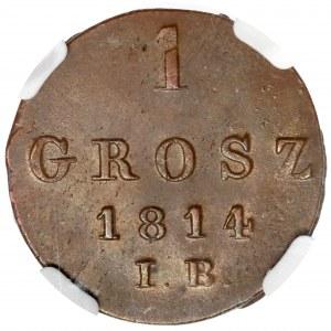 Księstwo Warszawskie, Grosz 1814 IB