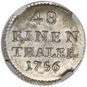 August III Sas, 1/48 talara 1756 FWóF, Drezno - piękna