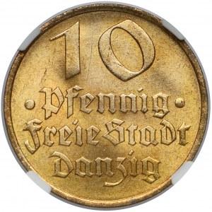Gdańsk, 10 fenigów 1932 Dorsz