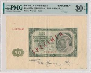 50 złotych 1948 - DRUK PRÓBNY - SPECIMEN - accepted