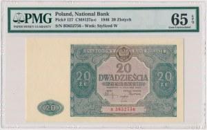 20 złotych 1946 - B - mała litera