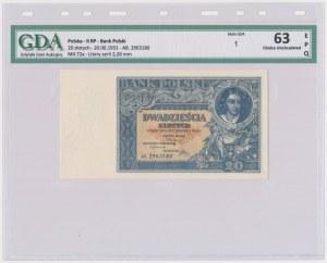 20 złotych 1931 - AB