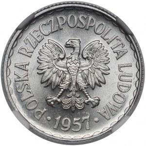1 złoty 1957 - PIĘKNA - rzadka w tym stanie