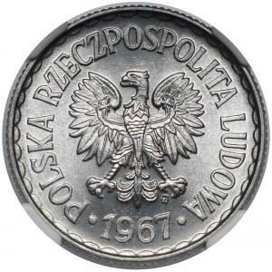 1 złoty 1967 - rzadki rok - PIĘKNA