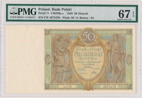 50 złotych 1929 - Ser.CW