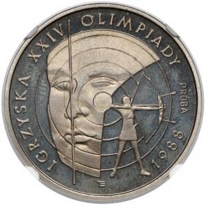 Próba NIKIEL 1.000 złotych 1987 Olimpiada Seul